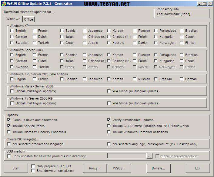 دانلودر آپدیت های آفلاین ویندوز و آفیس، WSUS Offline Update 11.2