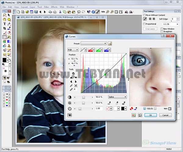 تولید و ویرایش حرفه ای تصاویر، PhotoLine 20.54