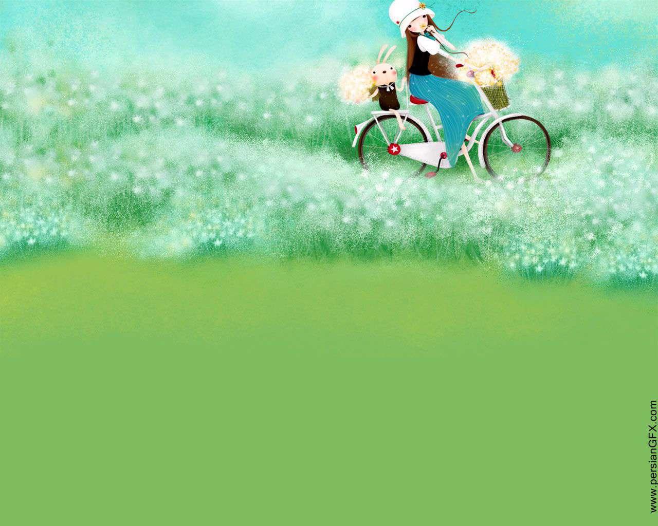 عکس نقاشی منظره کودکانه