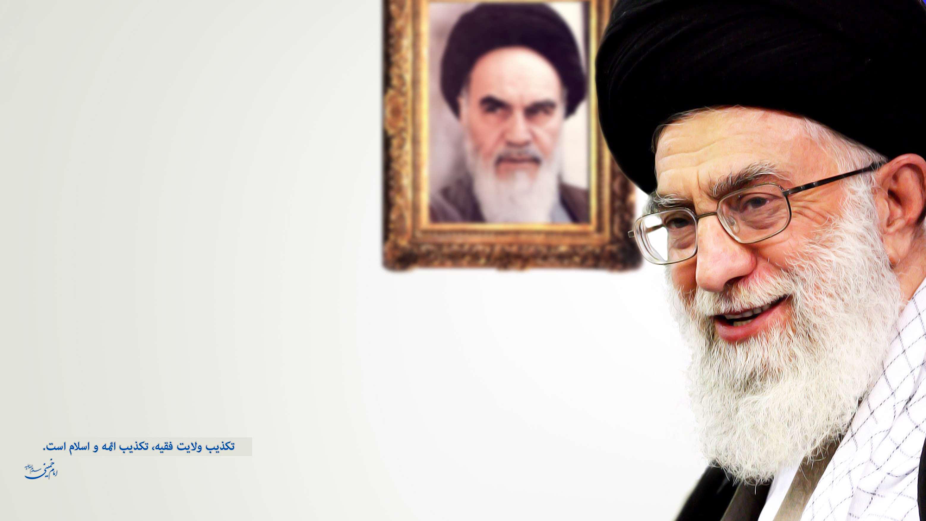 عکس رهبر و امام خمینی