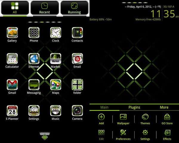 تم زیبای موبایل اندرویدی GWhite GO Launcher EX v1.0