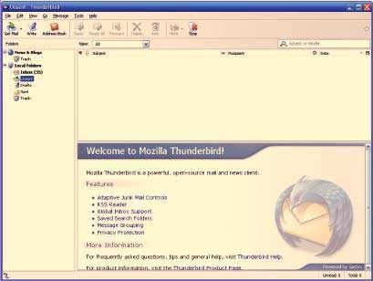مدیریت حرفه ای ایمیل ، Mozilla Thunderbird 38.7.0