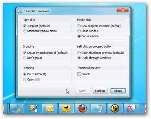 دانلود Taskbar Tweaker 4.5.8 مدیریت تسکبار ویندوز