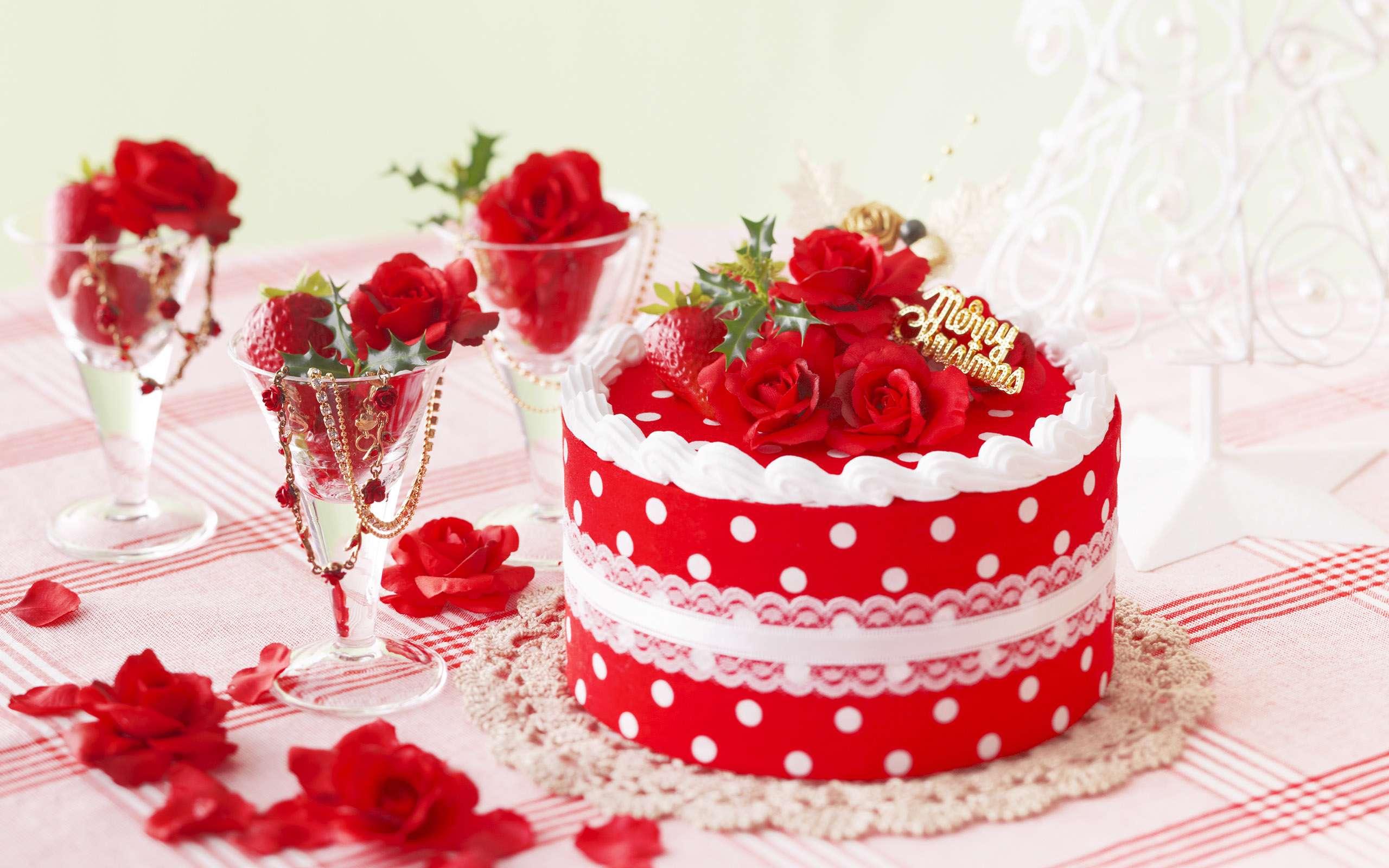 عکس گل و کیک تولد