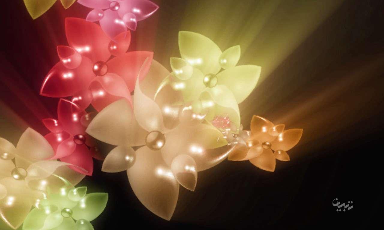 عکس گل های فانتزی