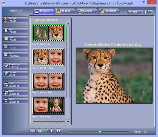 ادغام تصاویر و ساخت تصاویر متحرک، FotoMorph 13.8.4