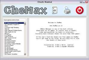 دانلود CheMax 19.5 کدهای تقلب بازی های کامپیوتری