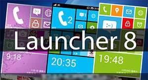 پوسته (تم) ویندوز فون 8 در اندروید، Launcher 8 v1.3.2
