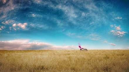 ماشینی میان مزرعه