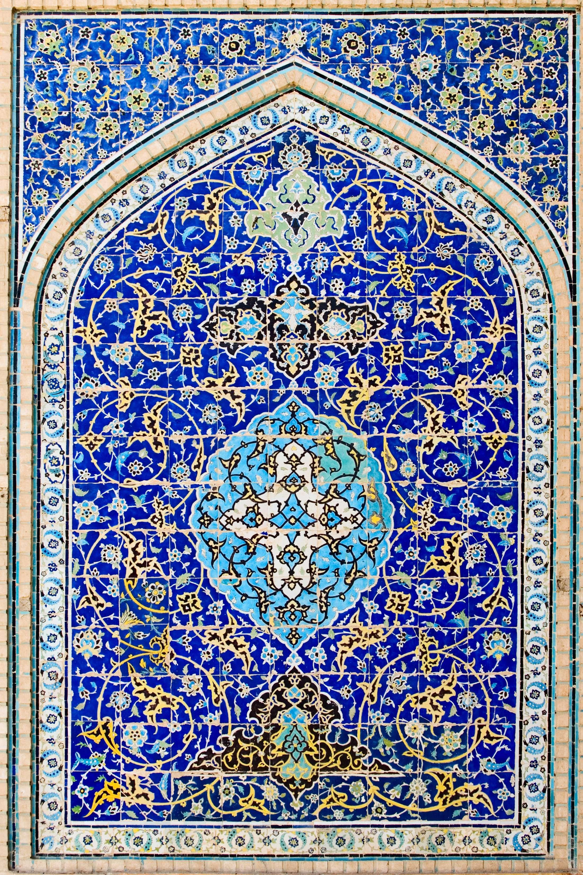 طرح کاشی شکسته روی دیوار طرح کاشی های مسجد امام گنجینه تصاویر تبيان