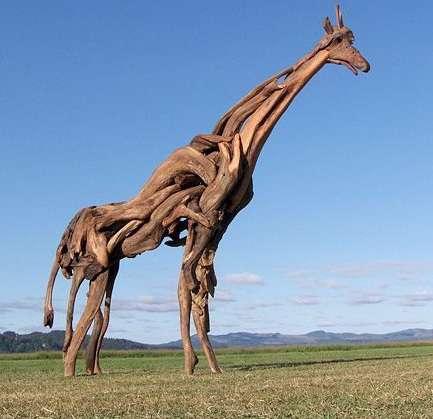 تصویر هفته-مجسمه سازی با شاخه های خشکیده