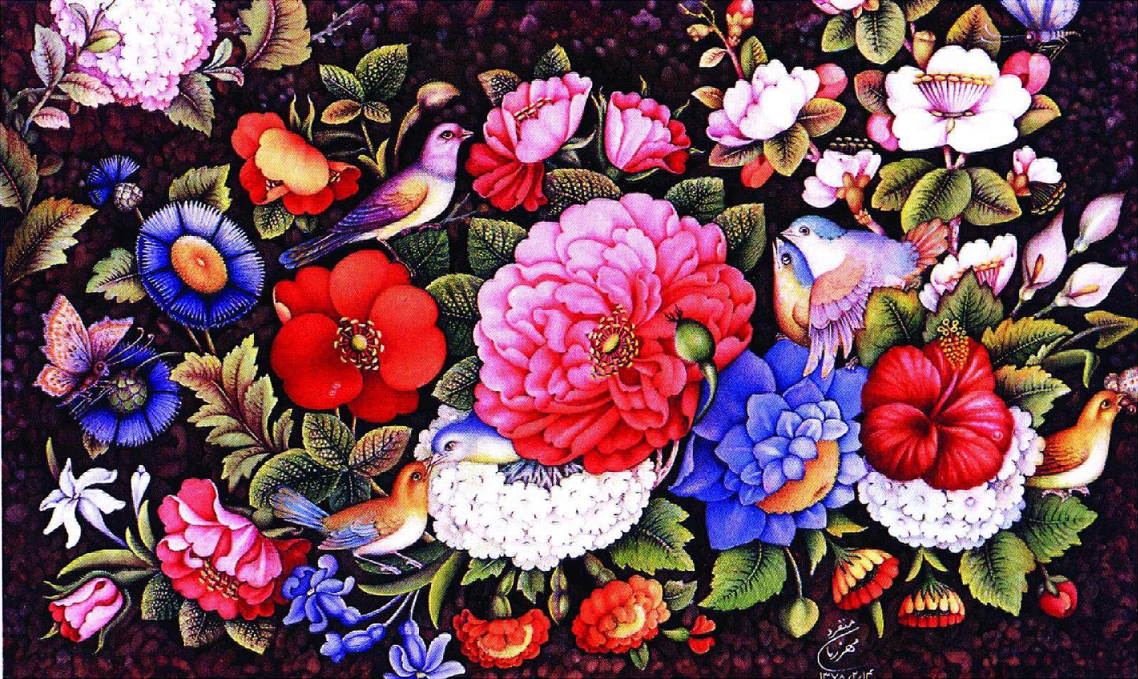 عکس گل و بلبل