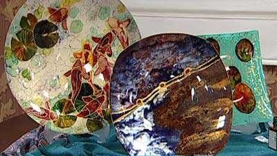 طرح اصلی بته  ماهی برای ویترا طرح حوض ماهی روی شیشه