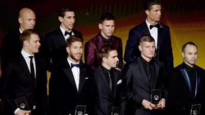 تیم برگزیده فوتبال جهان در سال 2014
