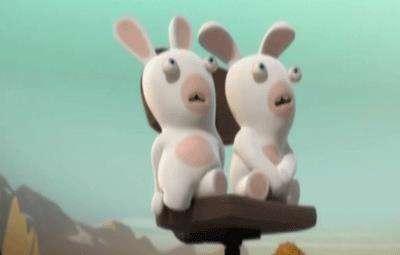 خرگوشک ها ( تماشای تلویزیون )