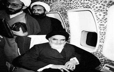 تصاویری از داخل هواپیمای حامل حضرت امام (ره)