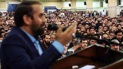 مداحی احمد واعظی در حضور رهبر