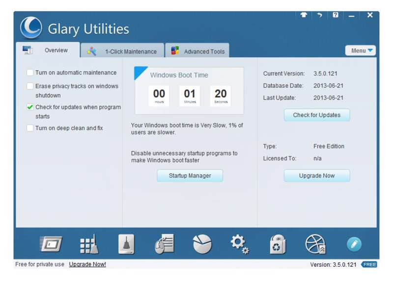 دانلود بهینه کننده ویندوز  Glary Utilities Pro 5.98.0.120