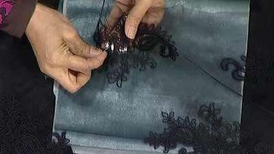 آموزش گیپور دوزی سنگ دوزی روی دانتل