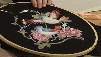 نقاشی روی پارچه مشکی (2)