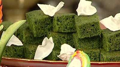 کیک اسفناج _ خانم صرافا