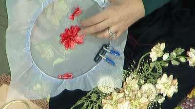 گل روبان دوزی (3)