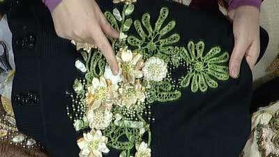 گل روبان دوزی (2)