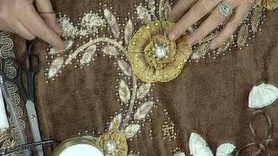 گل روبان دوزی (1)