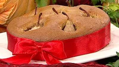 کیک گلابی _ خانم صرافا