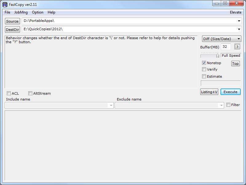 دانلود نرم افزار انتقال و کپی فایل ها با سرعت بالا FastCopy 3.52