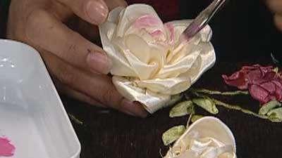 هفت سین با گلهای روبانی