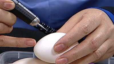 روبان دوزی روی تخم مرغ