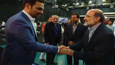بازدید رییس رسانه ملی از پشت صحنه ماه عسل