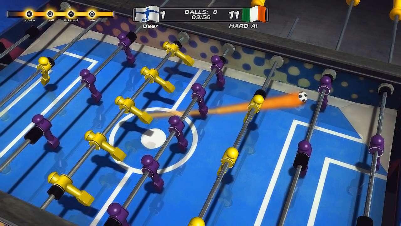 دانلود بازی کم حجم فوتبال دستی برای رایانه Foosball World Tour