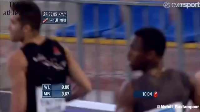 شکستن رکورد 100 متر ایران