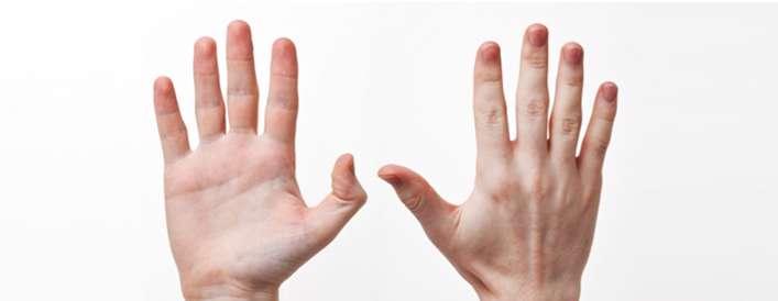 ارتباط بیماری ها با دست ها
