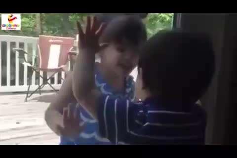 جنگ و صلح، عشق و دوستی کودکان در یک ویدئو