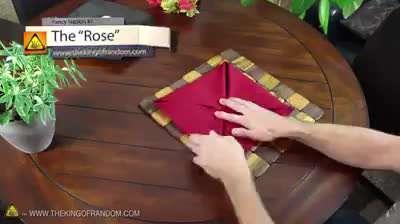 آموزش چنتا تزئینی جالب با دستمال پارچه ای