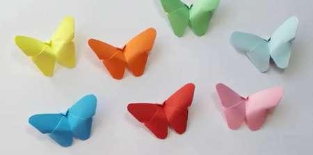 پروانه های اوریگامی، این کاردستی های زیبا