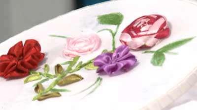 روباندوزی گل رز عنکبوتی
