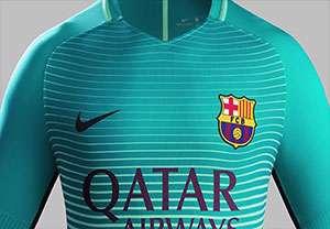 رونمایی از پیراهن سوم بارسلونا
