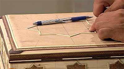 خاتم کاری روی جعبه قرآن (3)