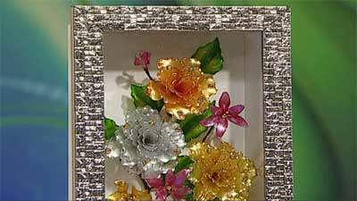 مونتاژ گل های شیشه ای