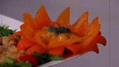 گل با فلفل دلمه ای