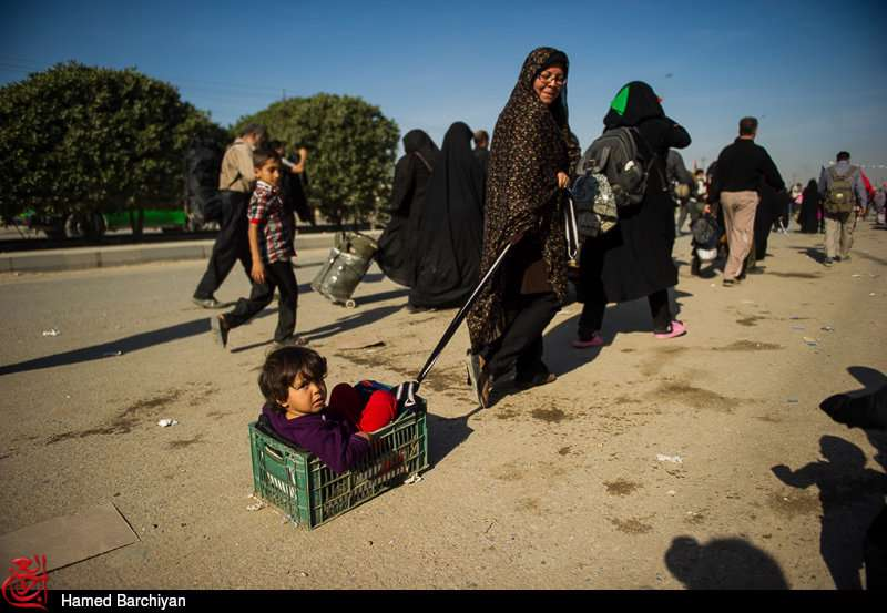 نماهنگ زیبای عربی با نوای ملا جلیل کربلایی برای پیاده روی اربعین