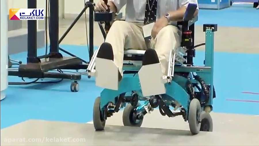 طراحی ویلچری با قدرت عبور از موانع