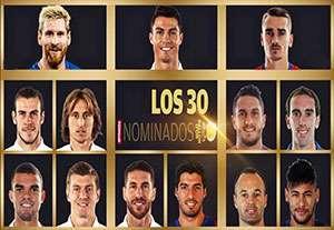 30 کاندید توپ طلای 2016