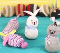 ساختن «عروسک خرگوش» با ساده ترین وسایل در خانه