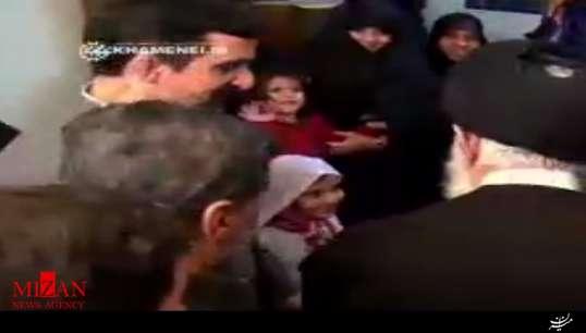 خداحافظی جالب دختر کوچولو با رهبر انقلاب