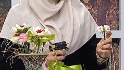 گل روبانی شاخه ای_ 2( آموزش به زبان آذری)
